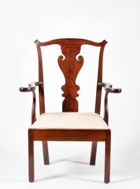 Pennsylvania Chippendale Mahogany Armchair