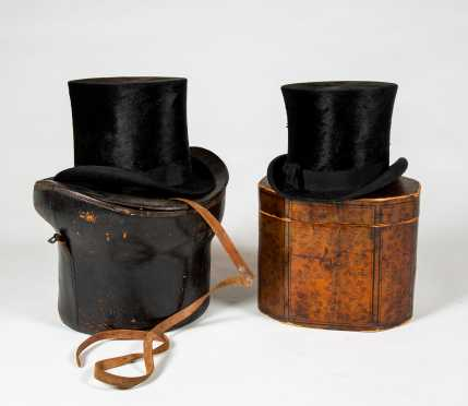 Tea Box, Two Top Hats and Case