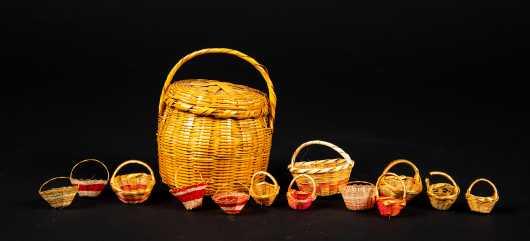 Lot of Fourteen Miniature Baskets