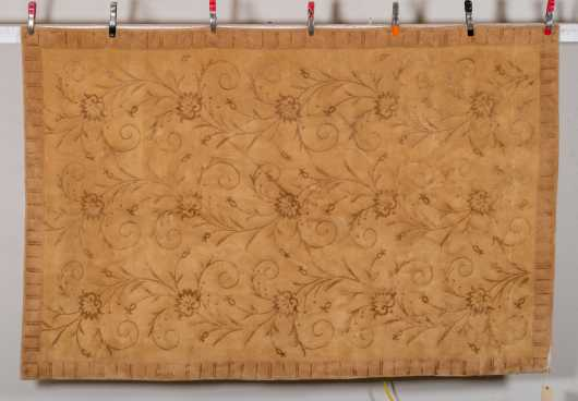 Large Scatter Size Machine Made Rug with Silk