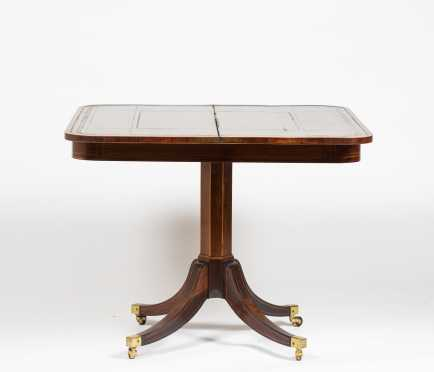 English Regency Rosewood Card Table