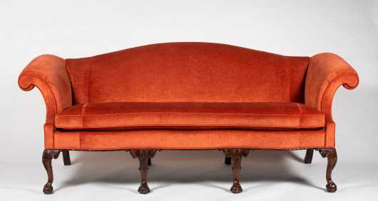 """Stickley"" William Chippendale Reproduction Sofa"