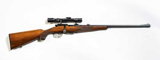 Ziegenhan & Sohn (Zi-Di) Very Nice Bolt Action .22 Hornet Rifle (5.6x35mm) with A. Jacken Kroll Scope in Claw Mounts