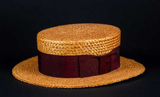 "Straw Bowler, Labeled ""Brooks Brothers"""