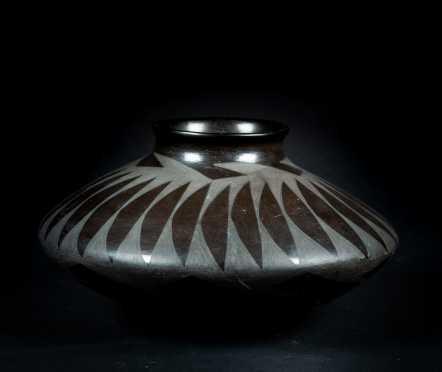 Native American Black Pueblo Pottery Jar