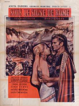 """French Movie Poster """"Sous Le Signe De Rome"""""""