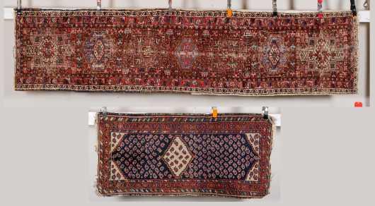 Two Worn Older Oriental Rugs