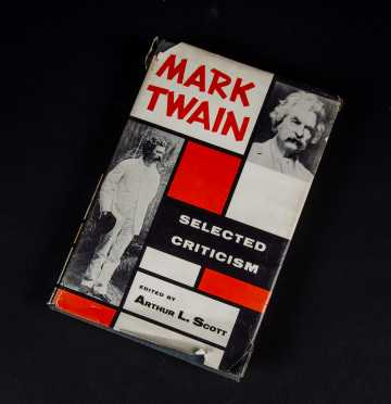 """Mark Twain"" ""Selected Criticism"" Edited by Arthur L Scott"