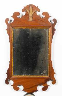 Chippendale Mirror with Prince Wales Feather on Crest