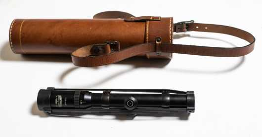 As New Schmidt & Bender 1.25 - 4 X 20 Variable Telescopic Sight in High Quality Hand Stitched Leather Case