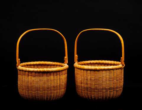 Pair of Nantucket Swing Handle Baskets