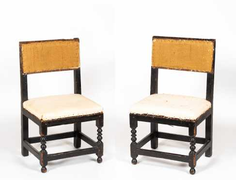 Pair of American Cromwellian Side Chairs