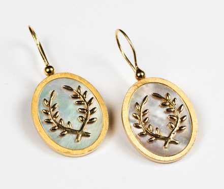 Suzanne Wilson 14K and Mother of Pearl Earrings