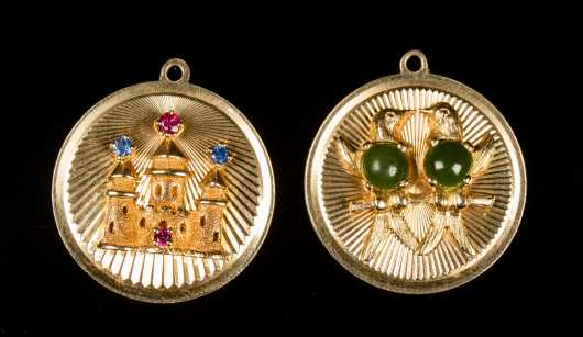 Two 14K Gold Medallions