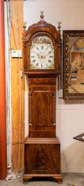 """19thC English Mahogany Tall Clock """"J Hancock / M. Norton"""""""