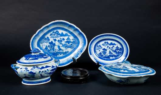 Three Chinese 19thC Serving Dishes