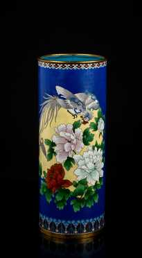 "Republic Chinese Cloisonne 15 1/4"" tall Vase"