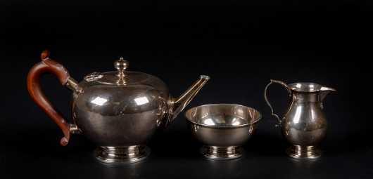 C1928 George V Sterling Three Piece Tea Set
