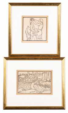 Aristide Maillol, French (1861-1944), Pair Woodcuts
