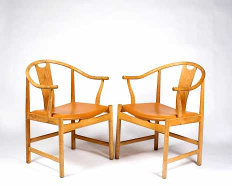 P.P. Mobler Design, Denmark, Hans J. Wegner Pair of Vintage Chairs