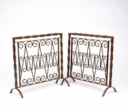 Wrought Iron and Glass Desk/ Table