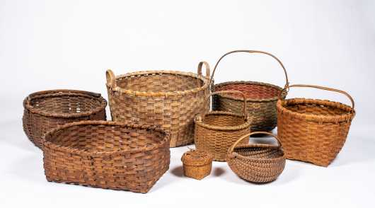 A Collection of 19thC American Baskets