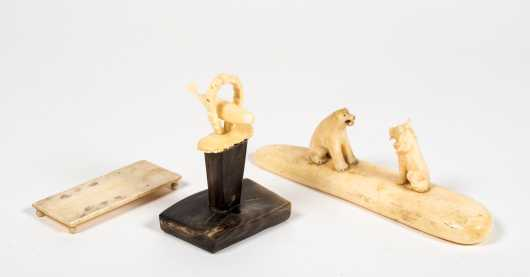 Three Eskimo Carved Objects