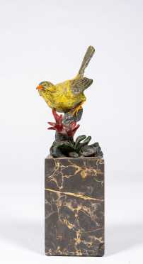 "Cold Painted Bronze Songbird by ""Milo"""