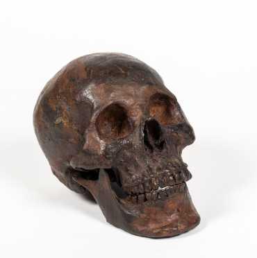 """""""Menet"""" Signed Bronze Skull, Copy"""