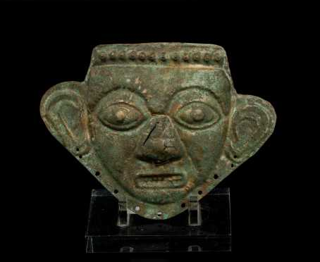 Pre-Columbian Pressed Tin Mask