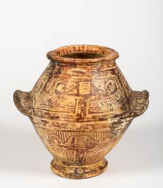 """Pre-Columbian Decorated 11"""" Tall Jar"""