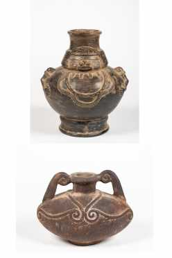 Two Peruvian Decorated Jugs