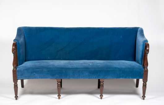 New Hampshire Sheraton Mahogany Sofa