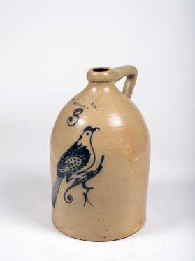 Hudson Pottery Co. Hudson NY Three Gallon Bird Decoration