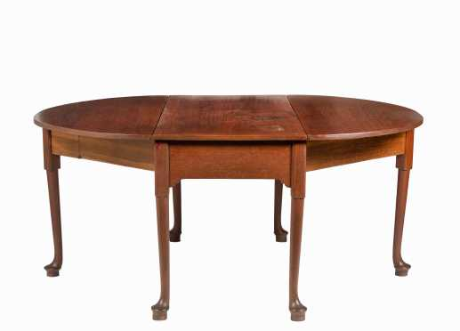 Large 18thC Queen Anne Mahogany Drop Leaf Table