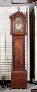 L18thC English Mahogany Tall Case Clock