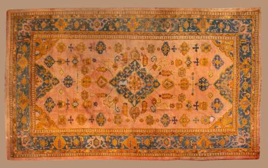 Antique Oushak Room Size Oriental Rug