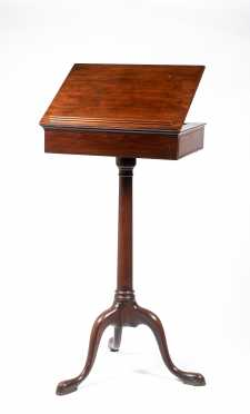 Edwardian English Mahogany Queen Anne Style Lectern