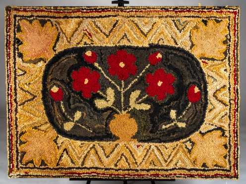 Pictorial Hooked Rug, American 19th/20thC