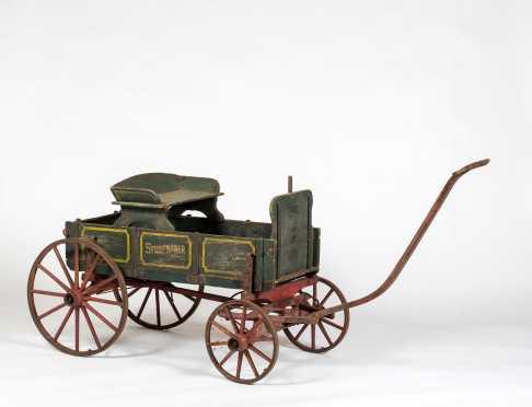 """Studebaker"" Child's Painted Wagon"