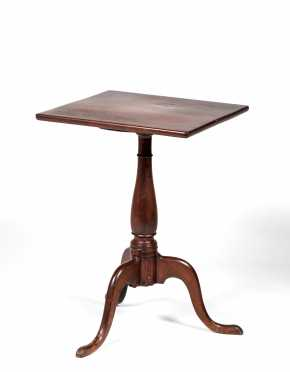 Queen Anne Candle Stand with Square Top