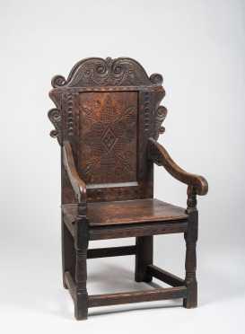 English Oaks Jacobean Wainscot Armchair