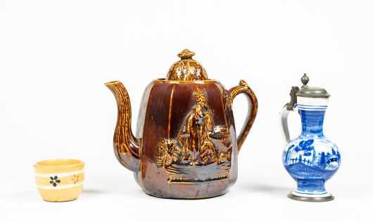 "Bennington ""Rebecca at the Well"" Pottery Teapot Lot"