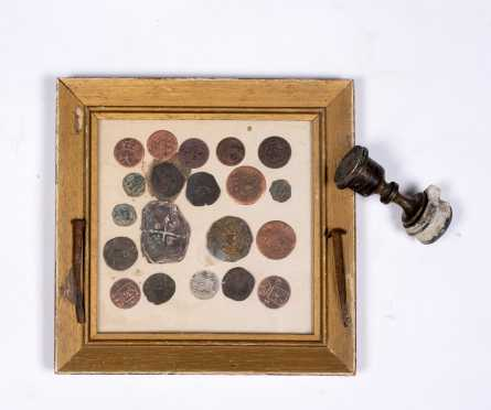 A Small Collection of Twenty-Two Ancient Coins 1634 to 1794