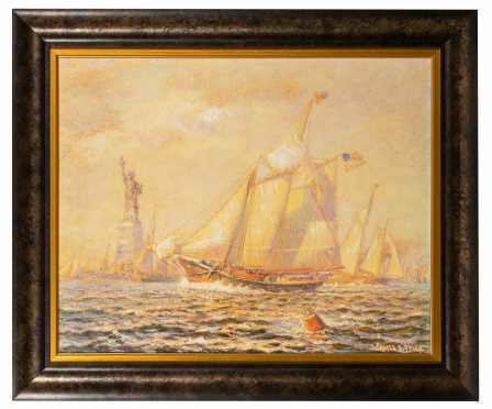 James Gale Tyler, Limited Edition 105/980, Museum Reproduction of New York Harbor
