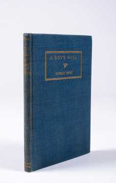 """Robert Frost, """"A Boy's Will"""", Inscribed"""