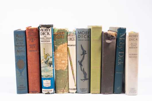 Ten Editions of Moby Dick by Herman Melville