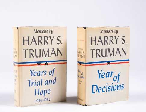 "Harry S. Truman, ""Memoirs"" Vols. 1 and 2, Inscribed"
