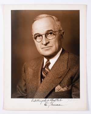 """11"""" x 14"""" Studio Photograph of Harry S. Truman by Pach Bros."""