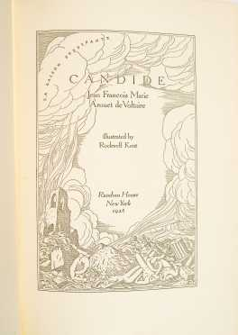 Voltaire, Candide, Illustrated by Rockwell Kent, Signed